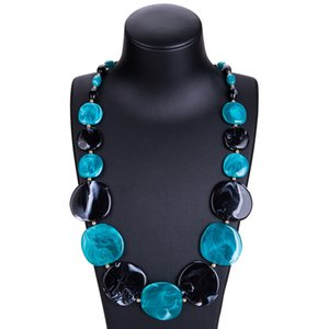 The new 2020 resin exaggerated necklaces acrylic wafer pure manual long fashion women sweater necklace