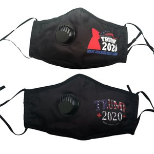 Trump Gesichtsmaske 2020 Trump amerikanische Wahl Supplies Make America Great Again Arbeiten Sie Breathable Atemventil Masken DHL-freies Verschiffen