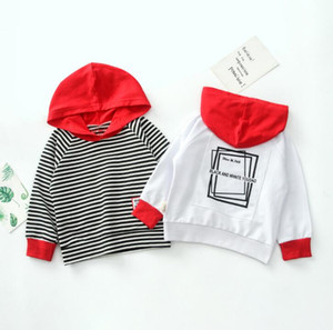 Children's spring new best selling Korean striped Pullover boys and girls children's Hoodie long sleeve cotton children's sweater