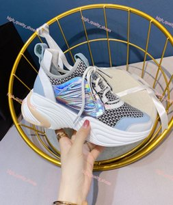 Xshfbcl 2020 New Run Away Plus men's and women's sneakers, rainbow multi-color oversized sneakers, causal shoes, red at the bottom,