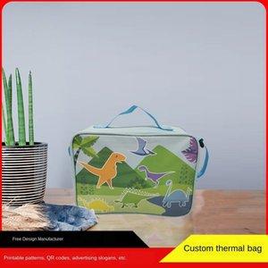 Tragbare Oxford Tuch tragbare Notizblock Wärmedämmung Notepad Eis Oxford Tuch Eisbeutel Tasche im Freien Reise Picknick-Box