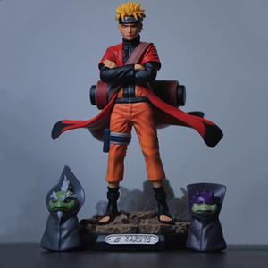 Uzumaki Naruto Naruto Sage Action Anime Figures PVC Toys Shippuden Collector Figurine Uchiha Sasuke Brinquedos Model Doll Figma 201017