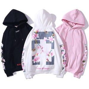 2020 Les femmes s Vêtements homme Sweats femme Sweats à capuche shirt Automne Hiver manches longues rose Fleur de cerisier Imprimer Hip Hop Mode en vrac OW Casual
