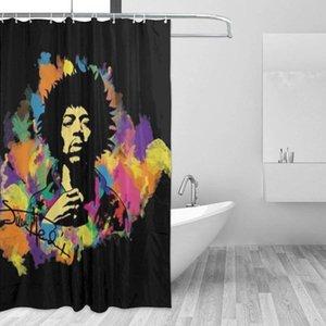 2020GVV Baño Decoración cortina de ducha de Jimi Hendrix Durable Los aficionados de tela impermeable baño cortina de 66x72 (168cmX183cm)