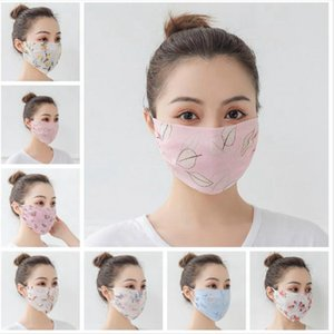 Women Scarf Face Mask Silk Chiffon Summer Outdoor Anti UV Windproof Dustproof Sunshade Masks Face Shield DDA146