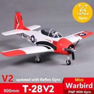 FMS 800MM Mini T28 T-28 Trojan V2 with Reflex Gyro Red 4CH 2S PNP EPO RC Airplane Scale Warbird Model Plane Aircraft War II