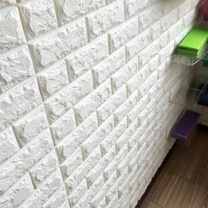 Thickness 3D Brick PE Foam DIY Wall Sticker Self 51TWC79ziWL 77X70CM Sticker Adhesive Wallpaper Panels hj2009 HgJoY