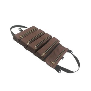 Multi-purpose Tool Roll Up Canvas Storage Bag Key Pouch Car Hang Zipper Carrier Fodable Tote Organizer
