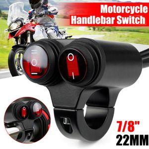 KAPALI Sis Far 12V Su geçirmez çift Flaşör Anahtarı Yağ değişimi 7/8 inç 22mm Motosiklet ATV Gidon Kontrol Anahtarı