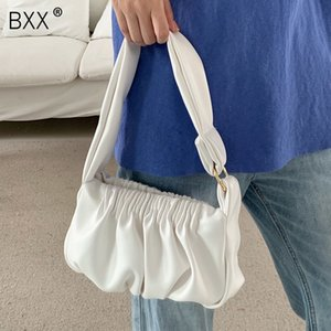 [BXX] Folds Small PU Leather Bags For Women 2020 Summer Elegant Shoulder Handbags Female Travel Totes Lady Crossbody Bag HN692