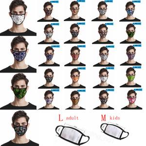 Paisley impressa mascarar Caju flor stripe 3D máscara de impressão digital à prova de poeira tampa de boca lavável adultos crianças máscaras CYF4294