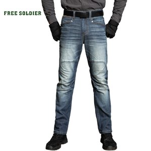 FREE SOLDIER outdoor scratch-resistant wear-resistant casual pants male autumn and winter loose straight trousers stretch jeans