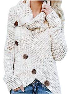20s Нового конструктора женщины свитер мода сплошного цвета черепаха шея свитер с кнопкой Горячей продажей Женской Повседневный осенью Размер одежда S-5XL