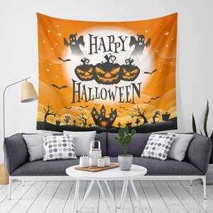 Halloween Pumpkin Tapestry Halloween Trick Treat Horror Ghost Wall Hanging Tapestry Home Party Decoration Sofa Wall Tapestry BH2406 TQQ