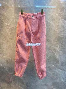 high-end mulheres meninas denim calças compridas calças de brim com mongram carta padrão a longo legging feminino 2020 outwear jersey pista movimentando-se da calça rosa