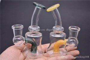 Rig Colored Glass Bong Tubature dell'acqua Mini Dab Rigs Bubbler Bong Recycler caffettiera a filtro olio per fumare erba secca bong acqua tabacco