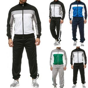 Erkek Tracksuits Ter Pantolon Suits Günlük Spor Ekleme Fermuar Tops Kazak Pantolon takımları Spor Suit eşofman yazdır