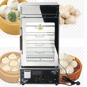 The new commercial stainless steel electric steamer display rack, portable fast food steamer, steamer, heat preservation cabinet