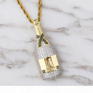 U Hiphop With Zircon Decanter Pendant Hot Style Creative Hiphop Necklace