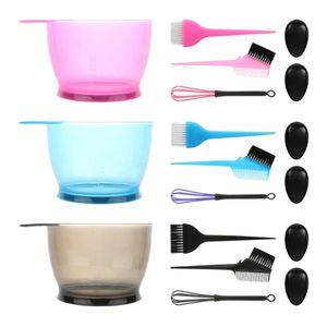 Salon Saç Rengi Boya Bowl Tarak Fırça Kulak Kapak Kuaförlük Araç 3 Setleri