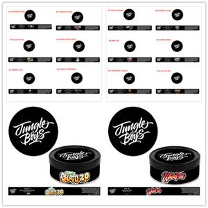 12 Types Jungle garçons Cali Press Tin Cans Autocollants 100 ml 3,5 g d'étanchéité auto étiquettent Tin Cans GELATO JUNGLE ORANGE Cookies CAKE