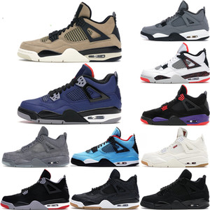 New Arrival Oreo jumpman 4 4s What The Cool Grey Mens Womens Basketball Shoes Raptors White Cement Alternate Motorsport bred Sports Shoes