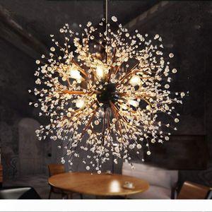 Vintage Hanging Lamp Loft Chandeliers LED Modern Crystal Firework Pendant Lighting Ceiling Light Fixtures for Resturant Foyer Dia.60 80 120