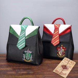 bolso mágico de Hogwarts Ravenclaw Slytherin Gryffindor Boy School Girl Estudiante adolescentes Schoolbags mujeres de la lona Mochila Mochila Hombres