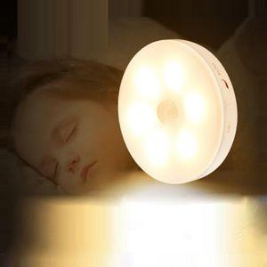 Nouveau rechargeable nuit Capteur de lumière intelligent lumière nuit usb sans fil allume armoire induction du corps humain Lampes de nuit capteur