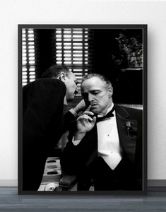 Os Posters Deus Pai Godfather clássico filme e Art Prints Prints Silk Poster pinturas para Sala No Frame