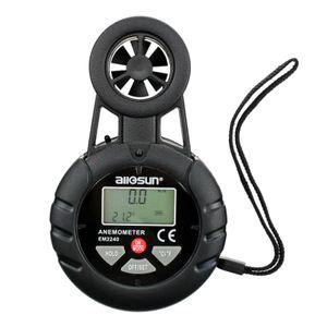 Écran LCD numérique Anémomètre Vitesse du vent Testeur Vent Temp Gauge poche d'air Débitmètre Tous Sun EM2240