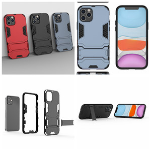 12 cas pour Iphone Iphone12 5,4 6,1 6,7 2020 Samsung M01 Defender dur hybride PC + TPU anti-choc robuste impact Support Support Combo Cover