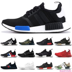 NMD R1 men women running shoes runner japan triple black Solar Red Glitch pack solid grey Camo Vintage White mens Designer trainers sports