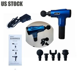 US Stock ! Massage Gun Fascia Gun Muscle Relaxer Quiet Deep Fitness Vibration Neck Diaphragm Grab Physiotherapy Release Gun Massager