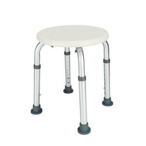 Anti-Slip ajustável chuveiro médica Bath Chair Rodada Stool Assento para Idosos