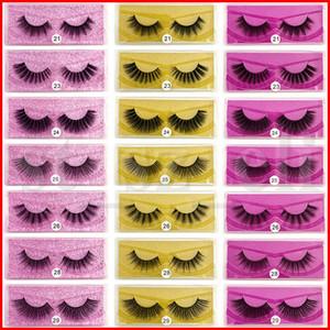 Макияж 3D норка Ресницы глаз норка Накладные ресницы Soft Natural Толстые Поддельные Ресницы 3D Eye Lashes Удлинитель с Rose Gold Silver Card 8 Style