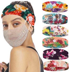 Padrão Nova Unisex dos desenhos animados impresso Relaxe Orelhas Sem Restrição Elastic Tafilete Yoga Headband Botão Elastic Hairband