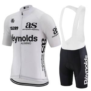 Klasik Espana Bisiklet Forması Takım Elbise Erkekler Yaz Yol Yarış Bisiklet Giyim Beyaz Bisiklet Giysileri Bisiklet Gömlek MTB Döngüsü Jersey