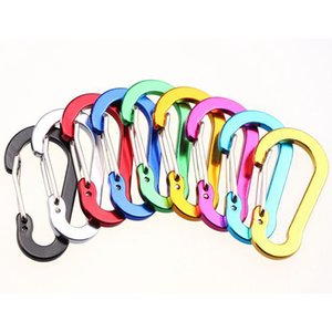 Carabiner Ring Keyrings Key Chain Outdoor Sports Camp Snap Clip Hook Keychains Hiking Aluminum Alloy Metal Hiking Camping DBC BH3568