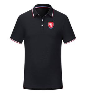 Çek Cumhuriyeti Futbol Takımı Rahat tişört Polyester Casual Kuru Slim Fit Örgü Golf Polo Promosyon Futbol Polo İçin Erkekler