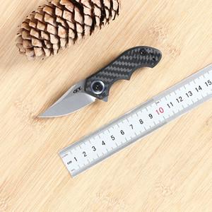 Green thorn, 0022 titanium alloy folding knife D2 blade, carbon fiber + Titanium 3D handle outdoor fruit folding knife EDC tool