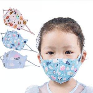 Çocuklar Buz İpek Baskılı Tasarımcı Yüz Yaz Moda Öğrenci Sevimli Ağız Kapak toz geçirmez Nefes Yıkanabilir DDA198 Maske Maskesi