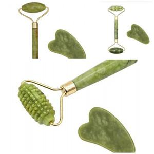 2020 neue 2pcs Schönheit Instrument Jade Rollemassager Xiuyu Massor Stock Tragbare Scraping Dichtigkeits Thin Gesicht Körper 5HH D2