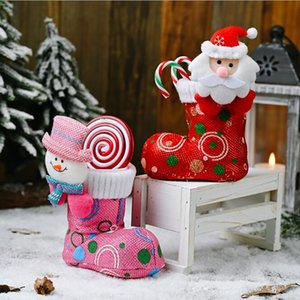 Home Merry Christmas Candy Boots Gifts Christmas Decorations Xmas Stocking Decor New Year Decoration
