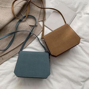 Korean Messenger Bag Women Solid Frosted PU Leather Breathable Purse Shoulder Crossbody Handbag Ladies Birthday Present