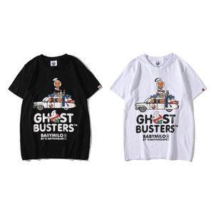 19ss Tide brand Ghost Squad driving co-branded cotton short-sleeved T-shirt for men and women base shirt