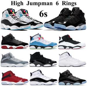 Jumpman 6s Zapatos anillos de baloncesto espacio Hombres Mujeres atasco de luz blanca azul del Cyber Furia Formadores Concord gimnasio confeti rojos refrescan las zapatillas de deporte grises