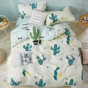 Home Textile Queen Twin Size Boy Girl Bedding Sets Cactus Duvet Quilt Cover Bed Sheet Pillowcase Teen Bedlinen king bedclothes
