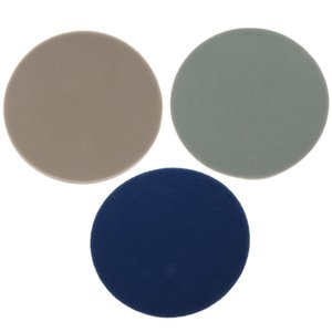 3 X Polish Self-adhesive Disc Angle Grinder Buffing Pad Flocking Sandpaper