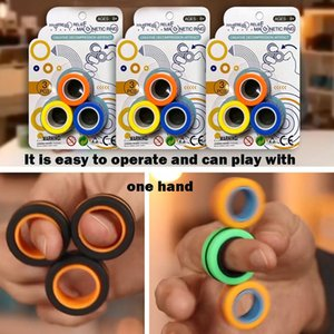 New Magnetic Fingears Spinner Magnetic Force Bracelet Ring Decompression Toy Hot Selling Ring Finger Game Decompression Toys